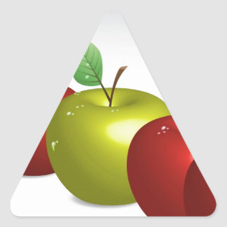 One apple for everyone triangle sticker