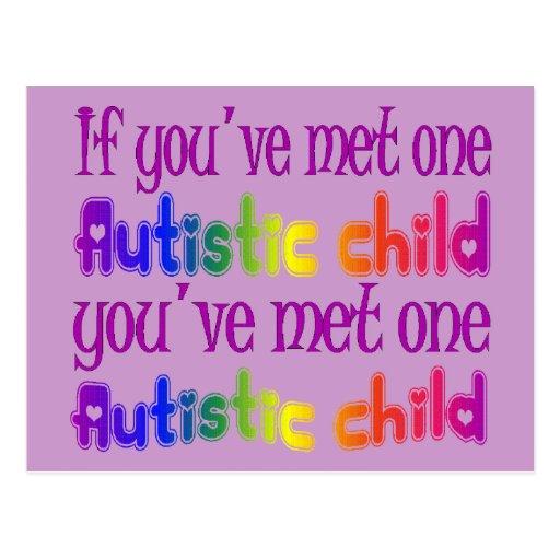 One Autistic Child Postcards