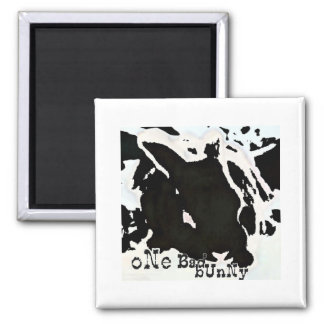ONE BAD BUNNY SQUARE MAGNET