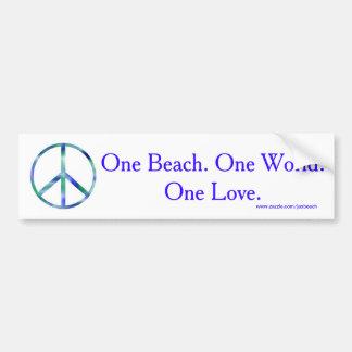One Beach, One World, One Love Bumper Sticker