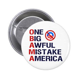 One Big Awful Mistake, America 6 Cm Round Badge