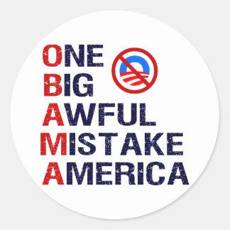 One Big Awful Mistake, America Classic Round Sticker