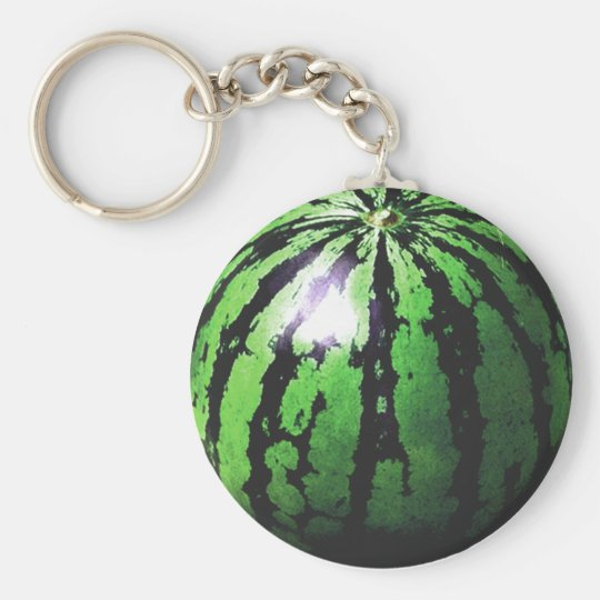 one big watermelon key ring