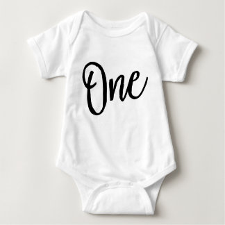 One Birthday Body Suit Baby Bodysuit