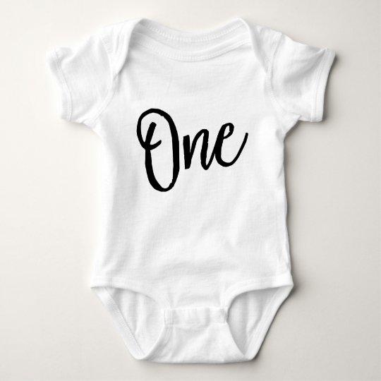 One Birthday Body Suit Baby Bodysuit