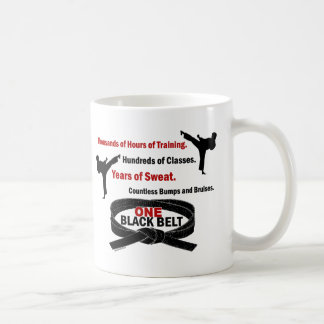 ONE Black Belt 1 KARATE T-SHIRTS & APPAREL Basic White Mug