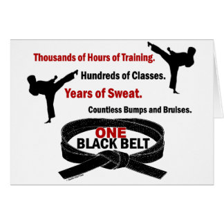 ONE Black Belt 1 KARATE T-SHIRTS & APPAREL Card