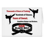 ONE Black Belt 1 KARATE T-SHIRTS & APPAREL Greeting Card