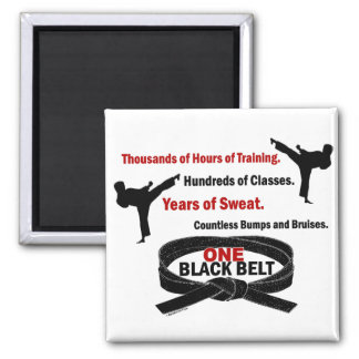 ONE Black Belt 1 KARATE T-SHIRTS & APPAREL Magnet