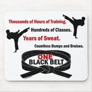 ONE Black Belt 1 KARATE T-SHIRTS & APPAREL Mouse Mat
