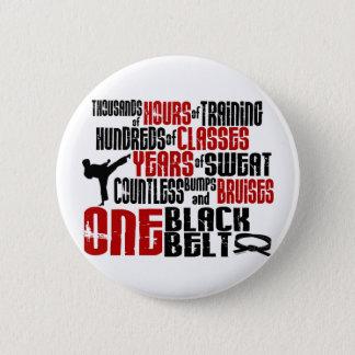 ONE Black Belt 2 KARATE T-SHIRTS & APPAREL 6 Cm Round Badge