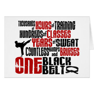 ONE Black Belt 2 KARATE T-SHIRTS & APPAREL Card