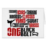 ONE Black Belt 2 KARATE T-SHIRTS & APPAREL Greeting Card