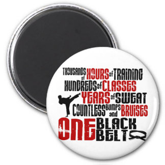 ONE Black Belt 2 KARATE T-SHIRTS & APPAREL Magnet