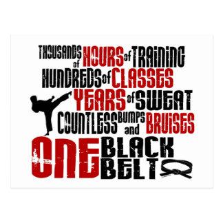 ONE Black Belt 2 KARATE T-SHIRTS APPAREL Post Card