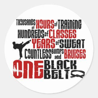 ONE Black Belt 2 KARATE T-SHIRTS APPAREL Stickers