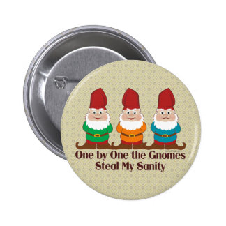 One By One The Gnomes 6 Cm Round Badge