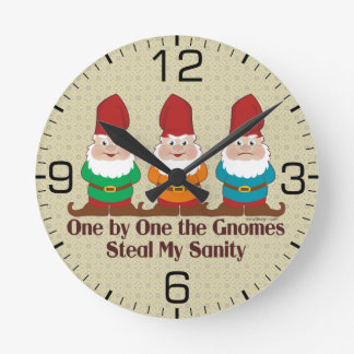 One By One The Gnomes Round Clock