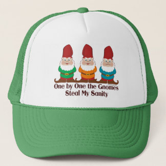 One By One The Gnomes Trucker Hat