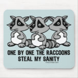 One By One The Raccoons Mousemat