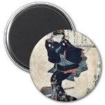 One by Utagawa, Kuniyoshi Ukiyoe 6 Cm Round Magnet