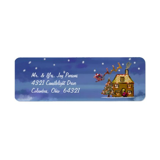 One Christmas Night Address Labels