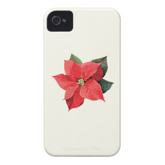 One Christmas Poinsettia Case-Mate iPhone 4 Cases