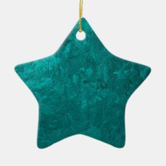 one color painting aqua ornament