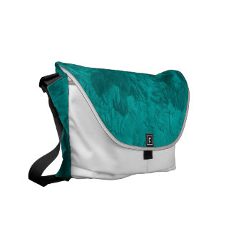 one color painting aqua courier bags