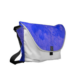 one color painting blue courier bags