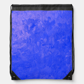 one color painting blue cinch bags