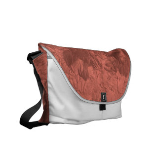 one color painting bronze messenger bags