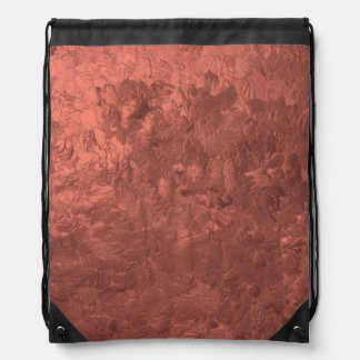 one color painting bronze cinch bag