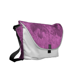 one color painting pink messenger bags