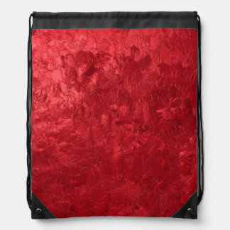 one color painting red drawstring backpacks