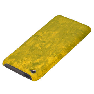 one color painting,yellow iPod touch cover