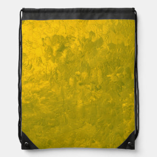 one color painting yellow cinch bag
