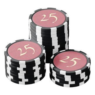 One colored diamond shape pattern poker chips