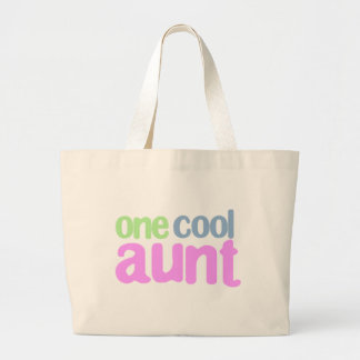 One Cool Aunt T-shirt Canvas Bags
