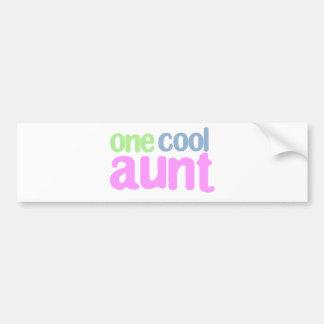 One Cool Aunt T-shirt Car Bumper Sticker