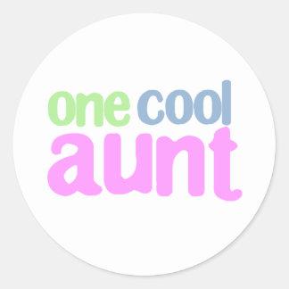 One Cool Aunt T-shirt Round Sticker