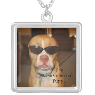One Cool Puppy photo Necklace
