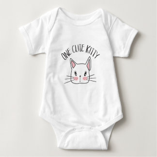 One Cute Kitty Baby Jersey Bodysuit