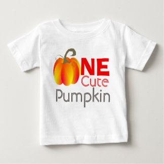 One Cute Pumpkin Funny Autumnal Graphic Baby T-Shirt