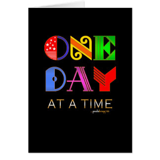 One Day at a Time (12 Step Recovery Program) Note Card