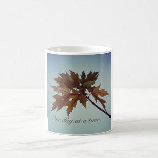 One day at a time - 12 step slogan mug