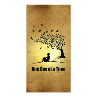 One Day at a Time – (1 Day at a Time Female) Customized Photo Card