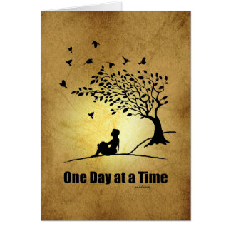 One Day at a Time – (1 Day at a Time Female) Note Card