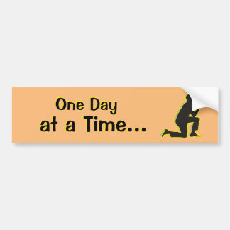 One Day at a Time AA Recovery Addict Bumper Sticker