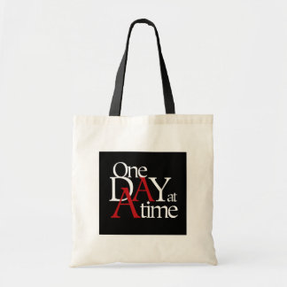 One Day at a Time Budget Tote Bag